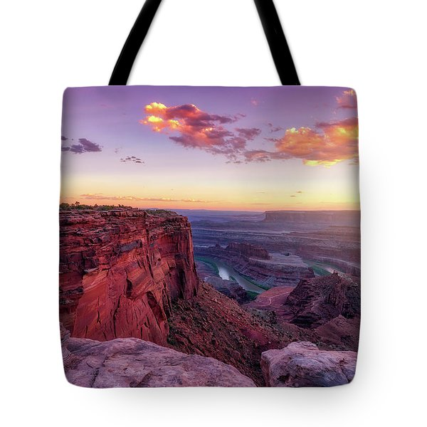 Tote Bag featuring the photograph Dead Horse Point Sunset by Darren White