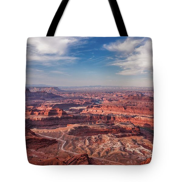 Tote Bag featuring the photograph Dead Horse Point Vista by Lon Dittrick
