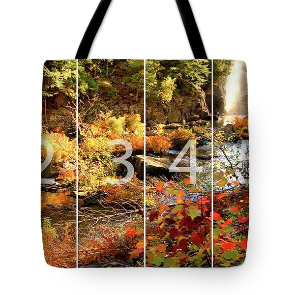 Dead River Falls Marquette Michigan Panoramic Map Tote Bag