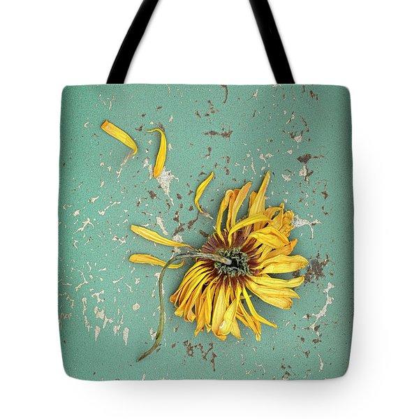 Tote Bag featuring the photograph Dead Suflower by Jill Battaglia