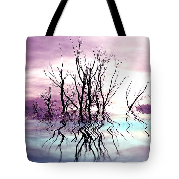 Tote Bag featuring the photograph Dead Trees Colored Version by Susan Kinney