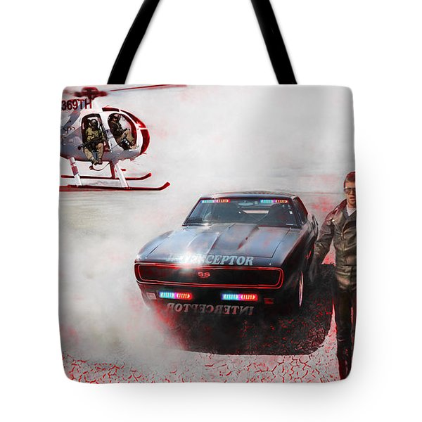 Deadly Pursuit Tote Bag by Michael Cleere
