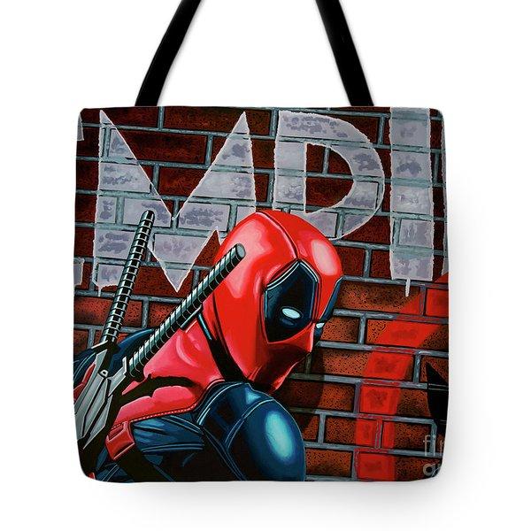 Deadpool Painting Tote Bag