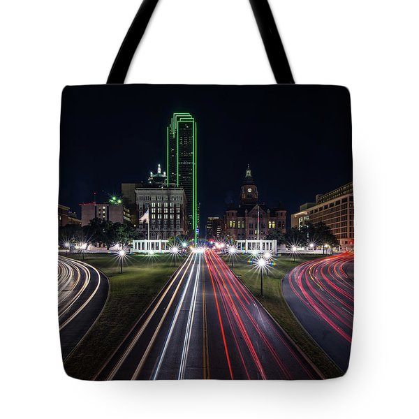 Dealey Plaza Dallas At Night Tote Bag