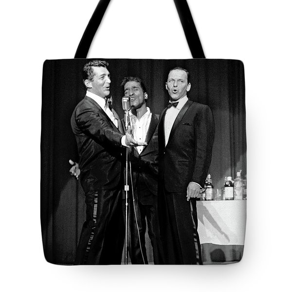 Dean Martin, Sammy Davis Jr. And Frank Sinatra. Tote Bag
