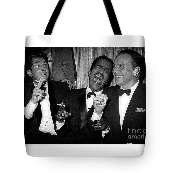 Dean Martin, Sammy Davis Jr. And Frank Sinatra Laughing Tote Bag