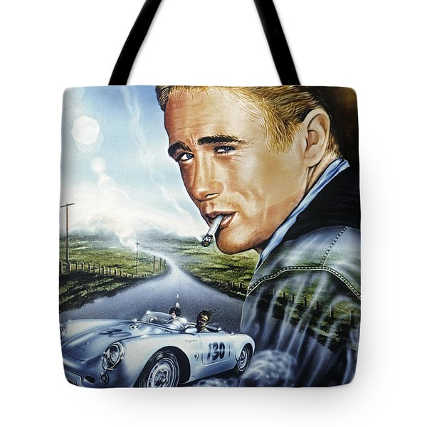 Tote Bag featuring the painting Dean Story by Uwe Jarling