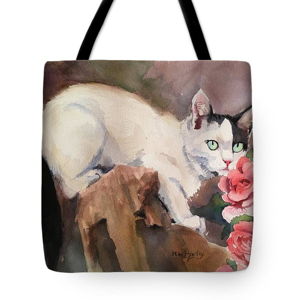 Deano In The Roses Tote Bag