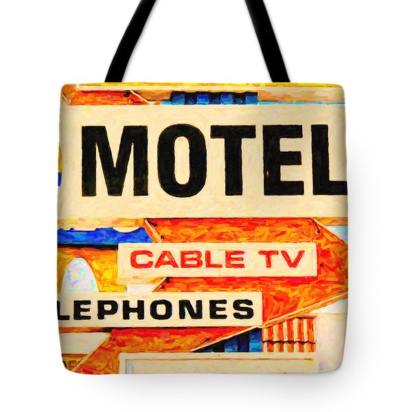 Deanos Motel Tote Bag by Wingsdomain Art and Photography