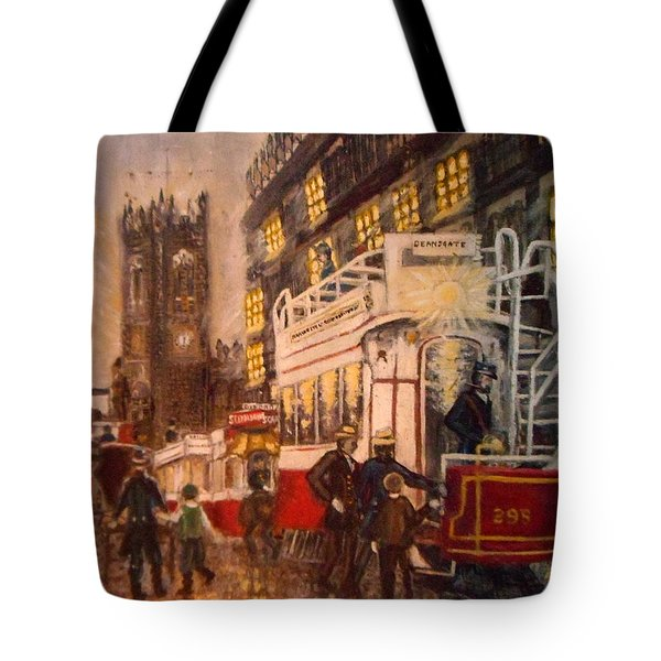 Deansgate With Tram Tote Bag