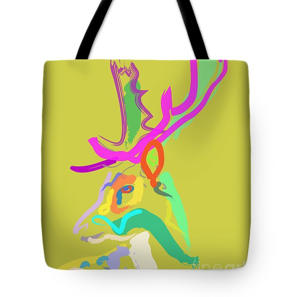 Tote Bag featuring the painting Dear Deer by Go Van Kampen