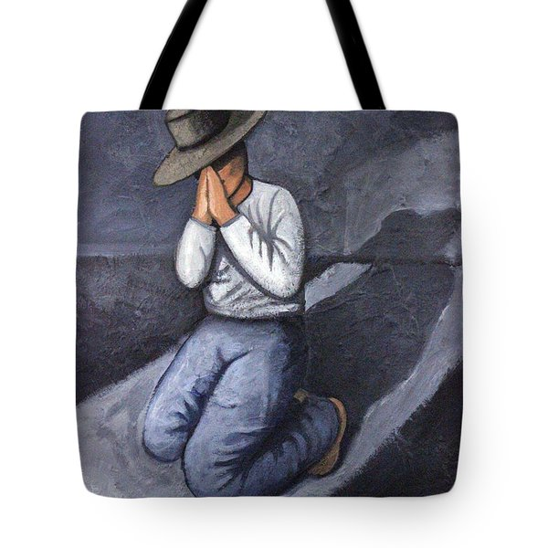 Tote Bag featuring the painting Dear God 3 by Lance Headlee