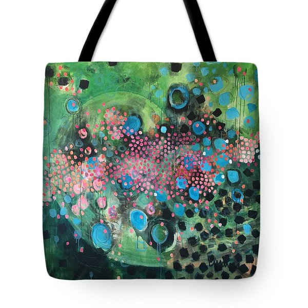 Tote Bag featuring the painting Dear Sugar A Pocket Of Delights by Laurie Maves ART