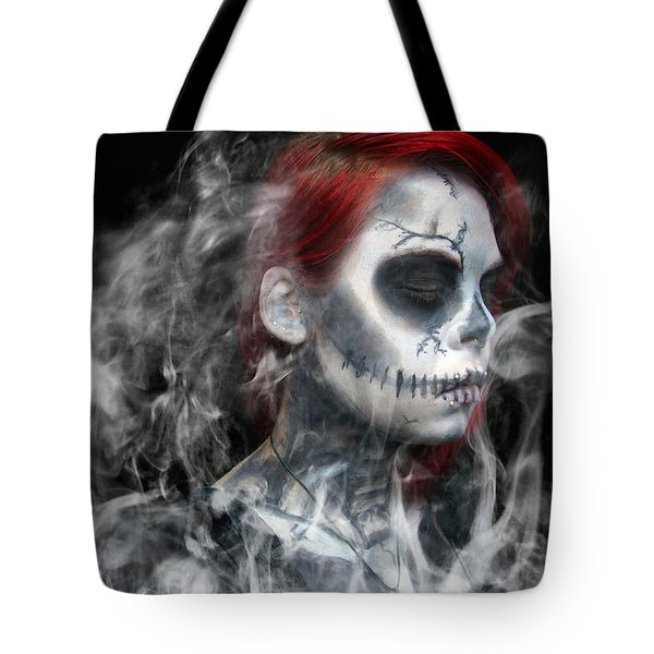 Death Becomes Us Tote Bag