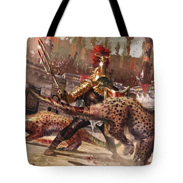 Death By Venom And Claw Tote Bag