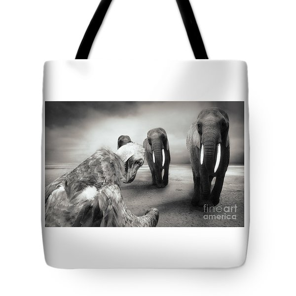 Tote Bag featuring the photograph Death List by Christine Sponchia