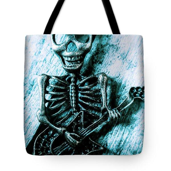 Death Metal Blues Tote Bag