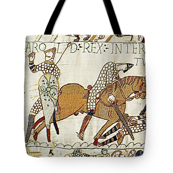 Death Of Harold, Bayeux Tapestry Tote Bag