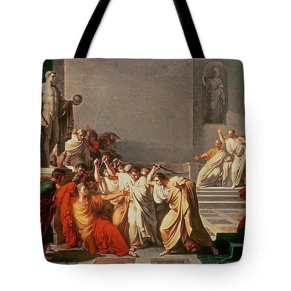 Death Of Julius Caesar Tote Bag by Vincenzo Camuccini