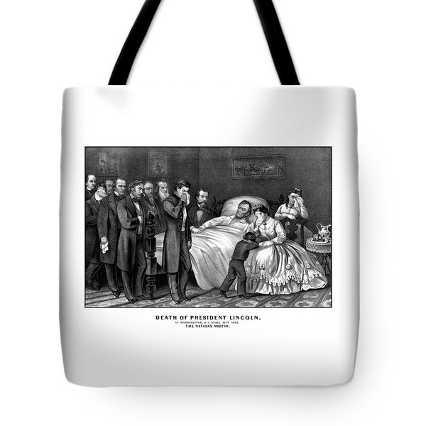 Death Of President Lincoln Tote Bag by War Is Hell Store