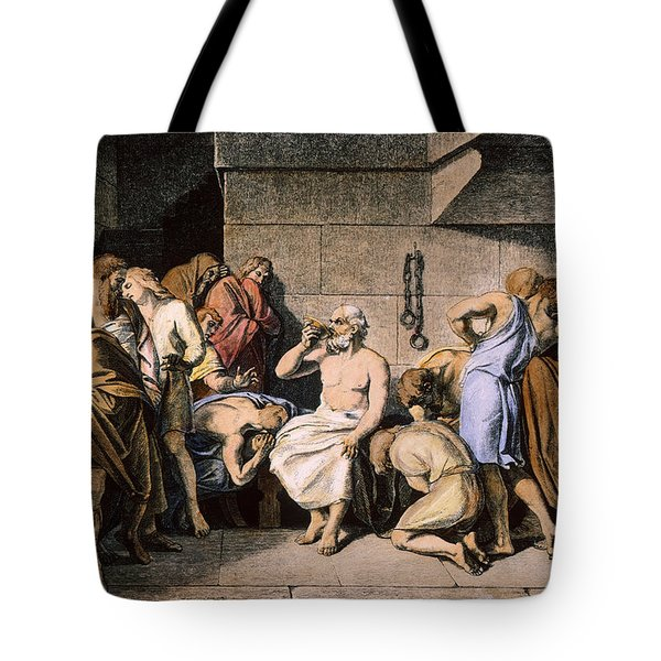 Death Of Socrates Tote Bag by Granger