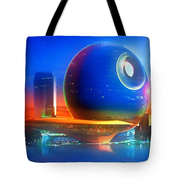 Death Star Decomissioned Tote Bag