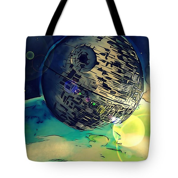 Death Star Illustration  Tote Bag