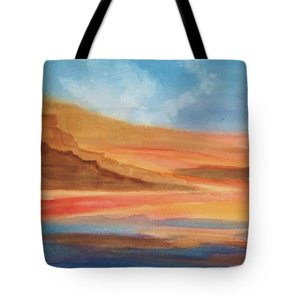Tote Bag featuring the painting Death Valley by Ellen Levinson