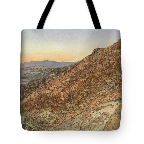 Death Valley From Dante's View  A November Sunset Tote Bag by Joel Deutsch