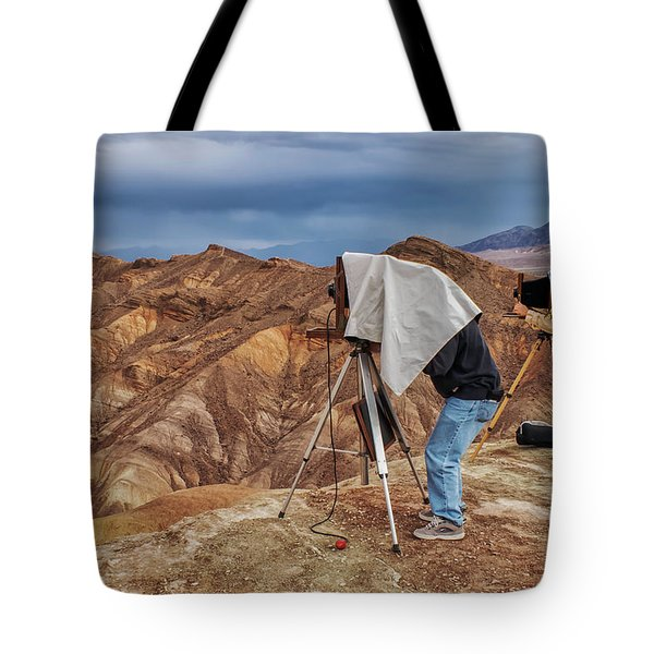 Tote Bag featuring the photograph Death Valley Photographers by Jim Dollar