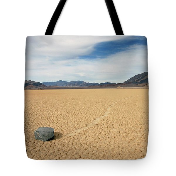 Tote Bag featuring the photograph Death Valley Ractrack by Breck Bartholomew