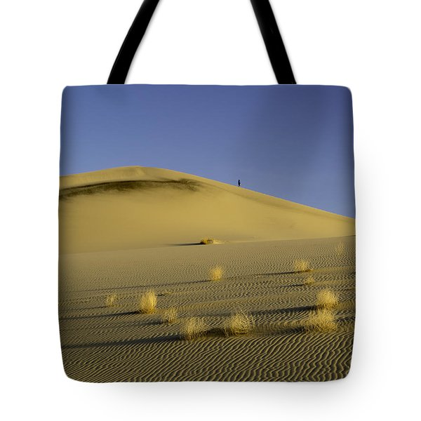 Death Valley Sand Dune At Sunset Tote Bag