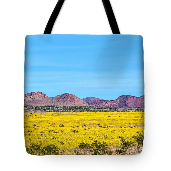 Death Valley Super Bloom 2016 Tote Bag by Peter Tellone