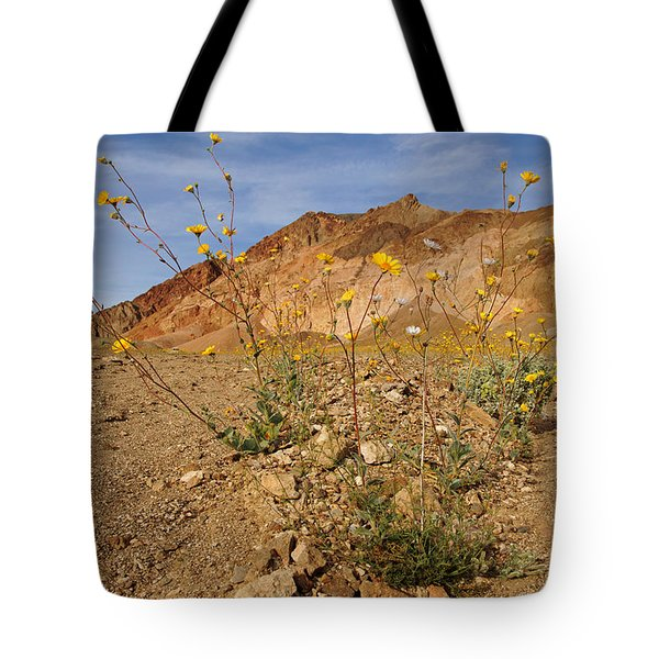 Death Valley Superbloom 202 Tote Bag by Daniel Woodrum
