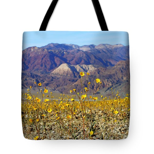 Death Valley Superbloom 405 Tote Bag by Daniel Woodrum