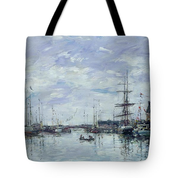 Deauville The Dock Tote Bag by Eugene Louis Boudin