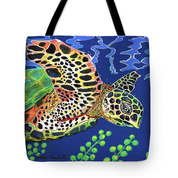 Debs Honu Tote Bag by Debbie Chamberlin