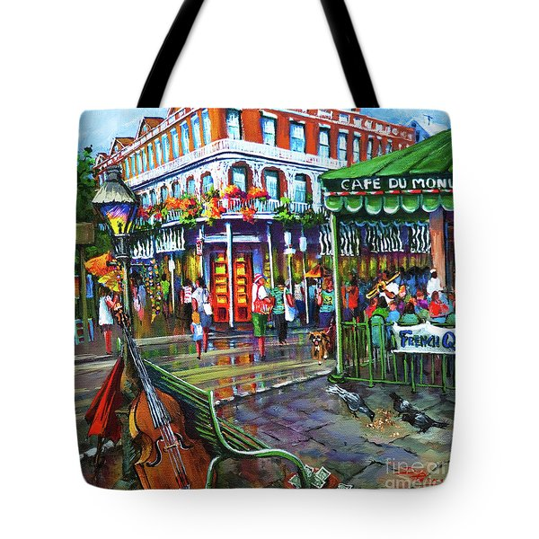 Tote Bag featuring the painting Decatur Street by Dianne Parks