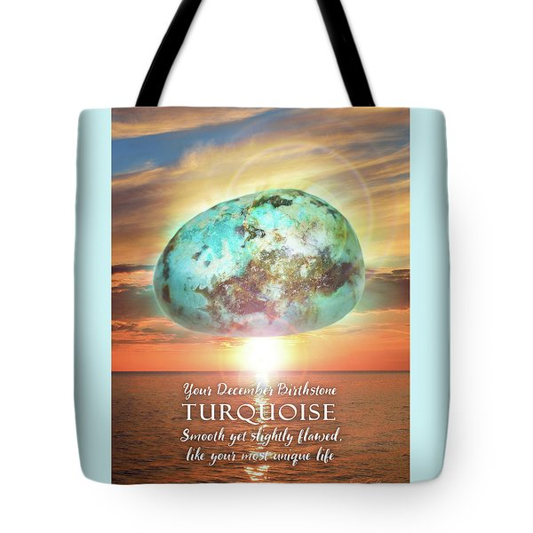 December Birthstone Turquoise Tote Bag