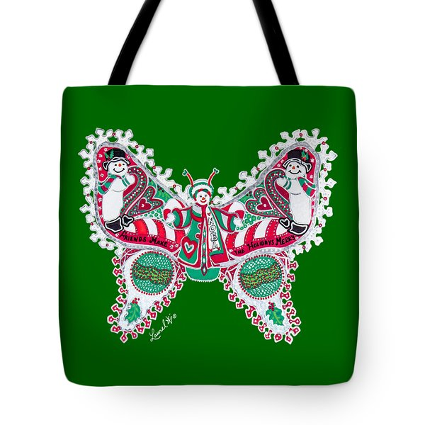 December Butterfly Tote Bag