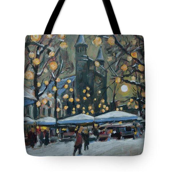 December Lights At The Our Lady Square Maastricht 2 Tote Bag