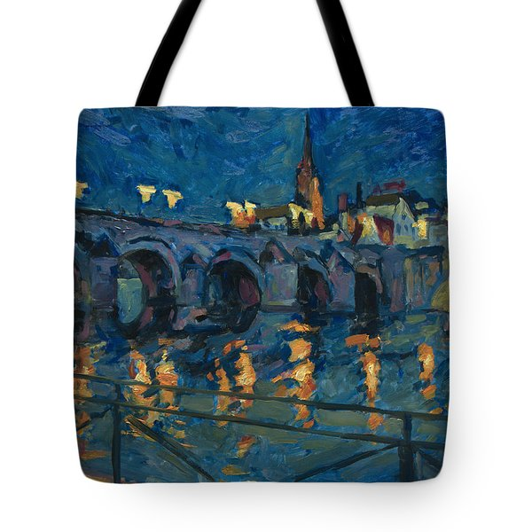December Lights Old Bridge Maastricht Tote Bag