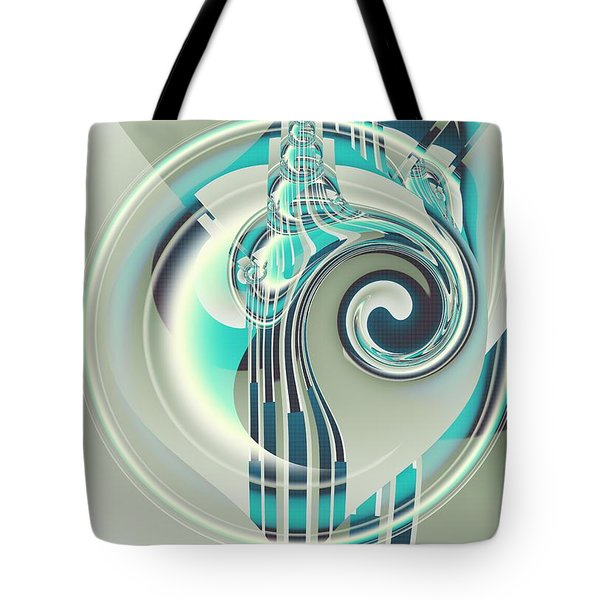 Tote Bag featuring the digital art December by Michelle H