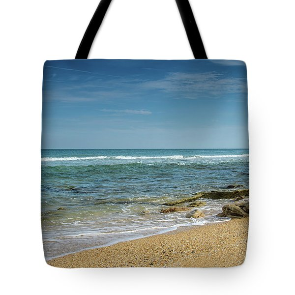 Tote Bag featuring the photograph December Ocean by Claire Turner