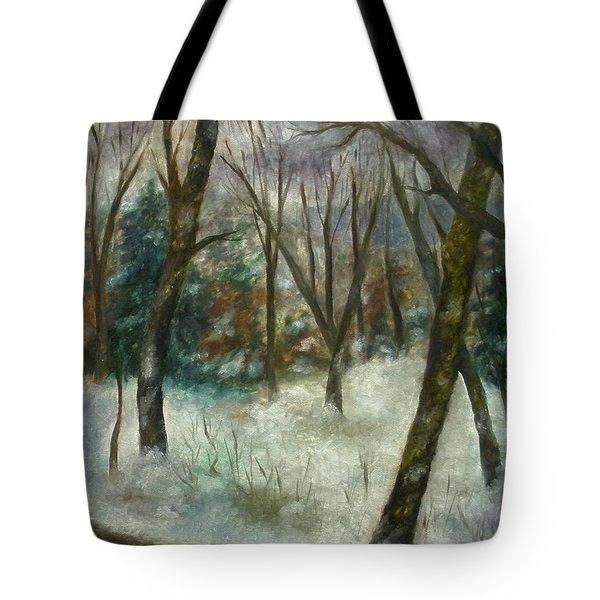December On Cooper Hill Tote Bag