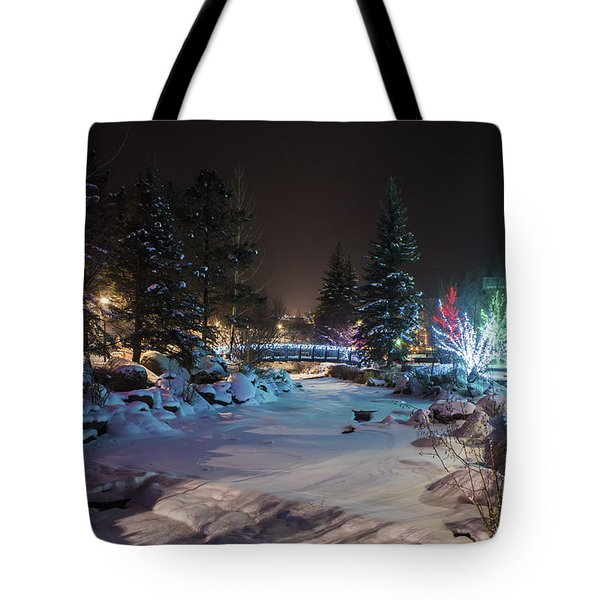 December On The Riverwalk Tote Bag