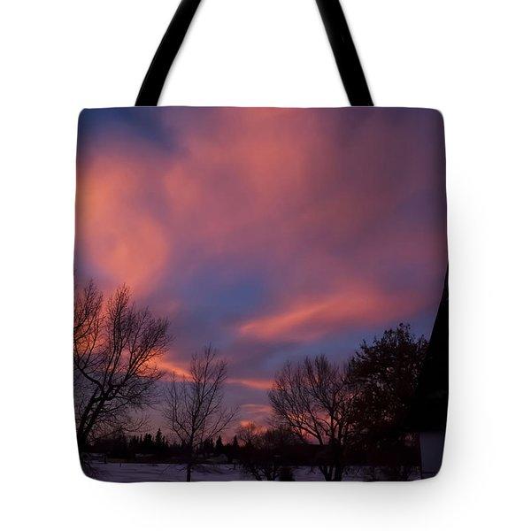 December Skies Tote Bag by Ellery Russell
