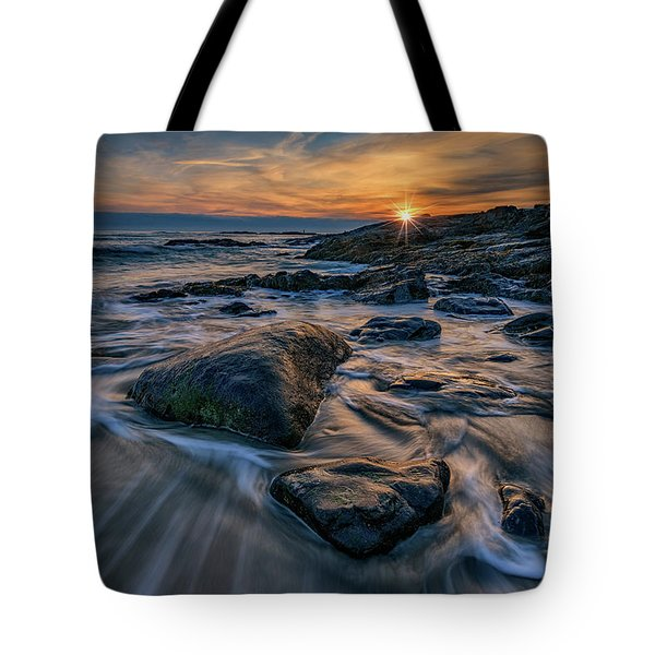 December Sunrise In Ogunquit Tote Bag