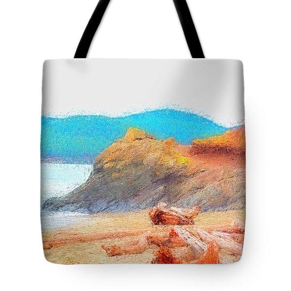 December's Shore Tote Bag by Tobeimean Peter
