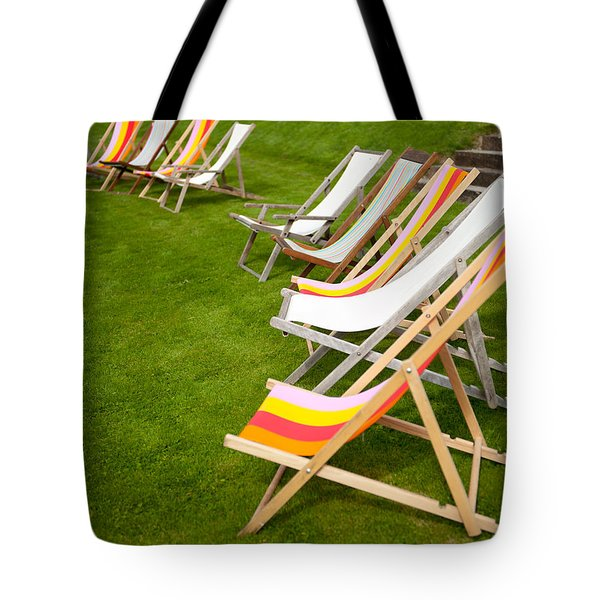 Deck Chairs Tote Bag